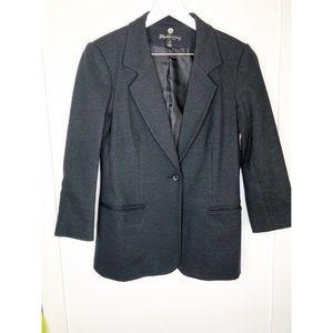 Elizabeth & James charcoal gray blazer 3/4 sleeve